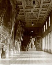 The Titian Hall at the Imperial Academy of Fine Arts in St. Petersburg. 1890s