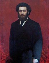 Ivan KRAMSKOI. Portrait of Arkhip Kuindzhi. Late 1870s