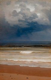 Arkhip KUINDZHI. Breaking Waves on a Rainy Day. 1890s