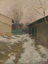 Spring Landscape. A Little Courtyard. Mid-1890s
