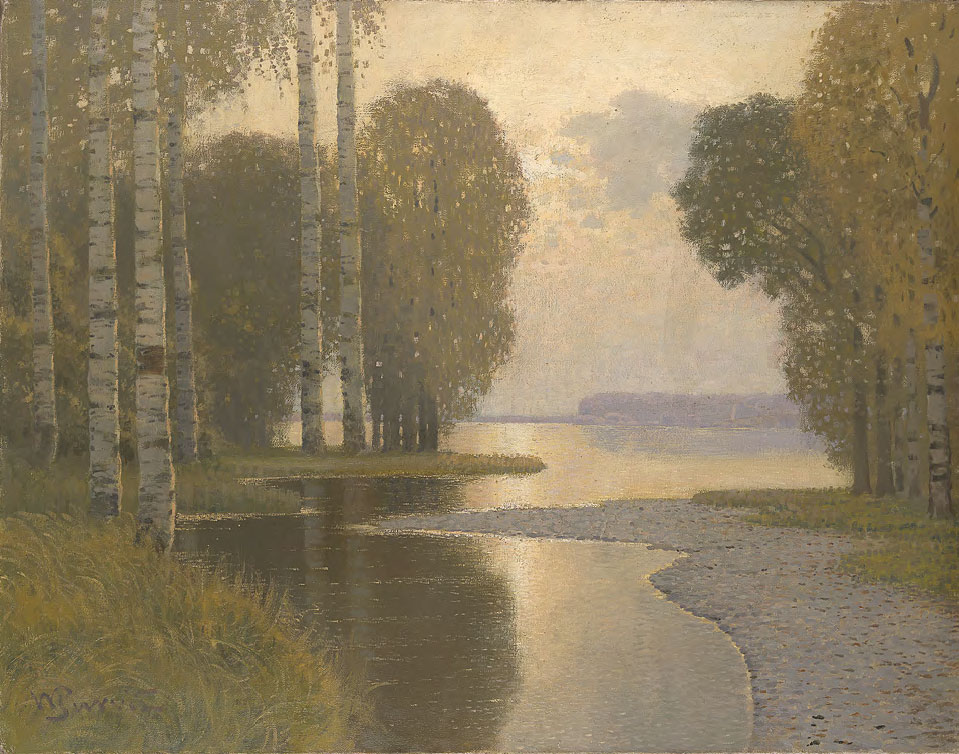 Landscape with Birch Trees. c. 1910