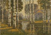 A Pond with Birch Trees. c. 1910
