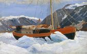 "A Sailing Ship in Ice. (""The Dream"" Sailing Ship). 1899"