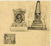 Alexei SHCHUSEV. Initial sketches for Kuindzhi's memorial. 1911–1912