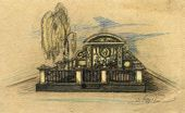 Alexei SHCHUSEV. Pre-competition design for Kuindzhi's memorial. Perspective. 1912
