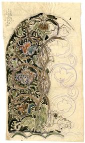 Alexei SHCHUSEV. Sketch of mosaic panel for Kuindzhi's memorial. 1913