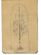 Alexei SHCHUSEV. Sketch of mosaic panel for Kuindzhi's memorial. Birch tree theme. 1913