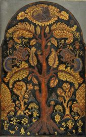 "Nicholas ROERICH. ""Tree of Life"" sketch of the mosaic panel for Kuindzhi's memorial. 1913"