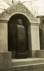 Kuindzhi's memorial at the Smolensky Cemetery in St. Petersburg. November 1914