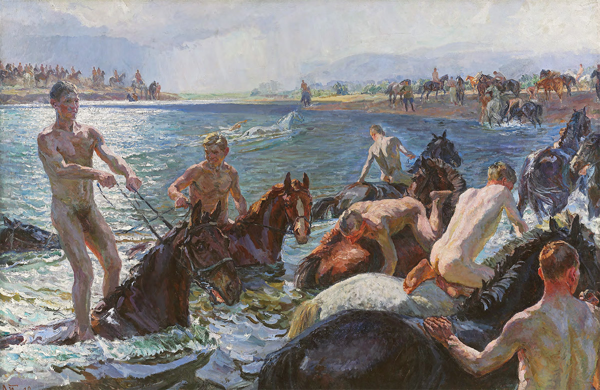 Bathing the Horses. 1938
