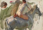 "Sketch for the painting ""Bathing the Horses"". Bathing the Horses. No. 10. 1937–1938"