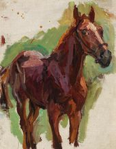 "Sketch for the painting ""Bathing the Horses"". The Horse. No. 4. 1937–1938"