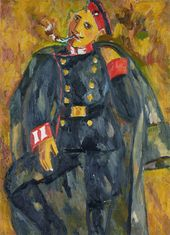 A Soldier Smoking. 1910–1911