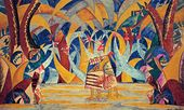 "Forest. Sketch of the set for Anatoly Lyadov's ballet ""Russian Fairy Tales"". 1916–1918"