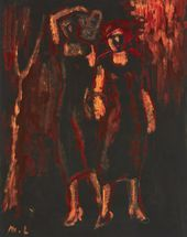 Two Women on a Black Background. Second half of the 1920s - first half of the 1930s
