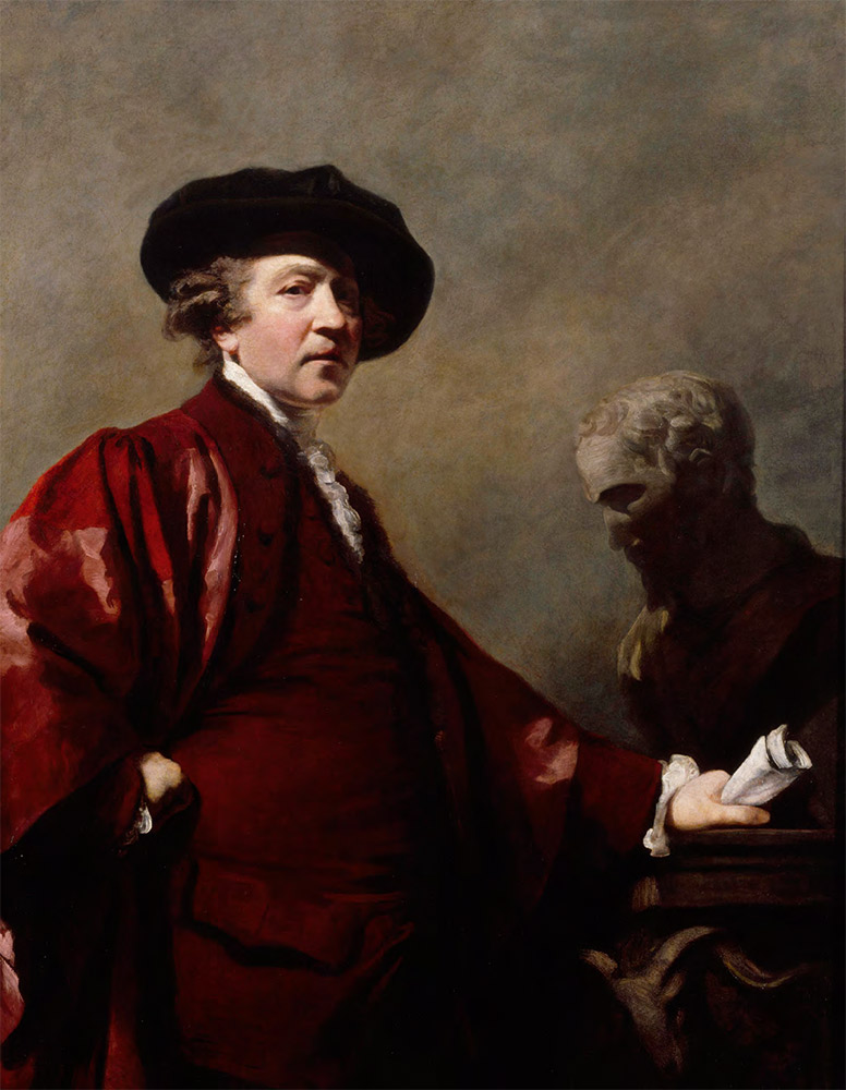 SIR JOSHUA REYNOLDS (1723-1792). Self-portrait of Sir Joshua Reynolds. c. 1780