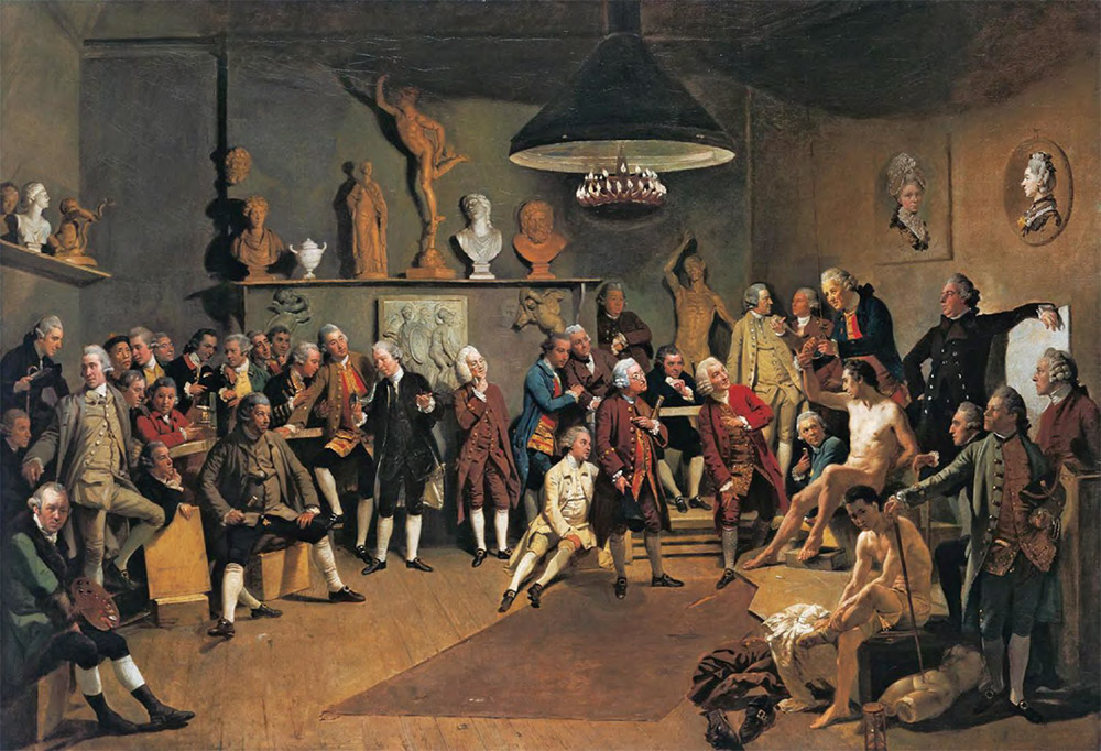 JOHANN ZOFFANY (1733-1810). The Portraits of the Academicians of the Royal Academy. 1771-1772