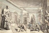 EDWARD FRANCIS BURNEY (1760-1848). The Antique School at New Somerset House. c. 1780