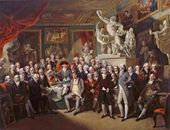 HENRY SINGLETON (1766-1839). The Royal Academicians in General Assembly. 1795