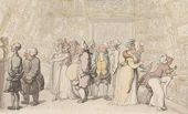 THOMAS ROWLANDSON (1756-1827). Viewing at the Royal Academy. c. 1815