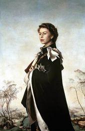 PIETRO ANNIGONI (1910-1988). Queen Elizabeth II. 1955