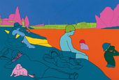 MICHAEL CRAIG-MARTIN (b. 1941). Reconstructing Seurat (Orange). 2004