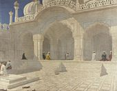 VASILY VERESHCHAGIN. Pearl Mosque (Moti Masjid) at Delhi. Late 1880s