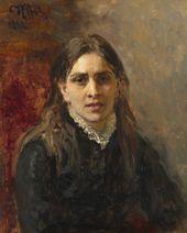Ilya REPIN. Portrait of Pelageya Strepetova. 1882