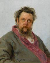Ilya REPIN. Portrait of Modest Mussorgsky. 1881