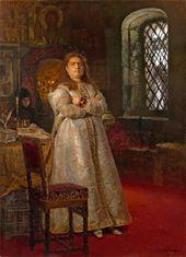 Ilya REPIN. Tsarevna Sofia Alexeievna at the Novodevichy Convent. 1879