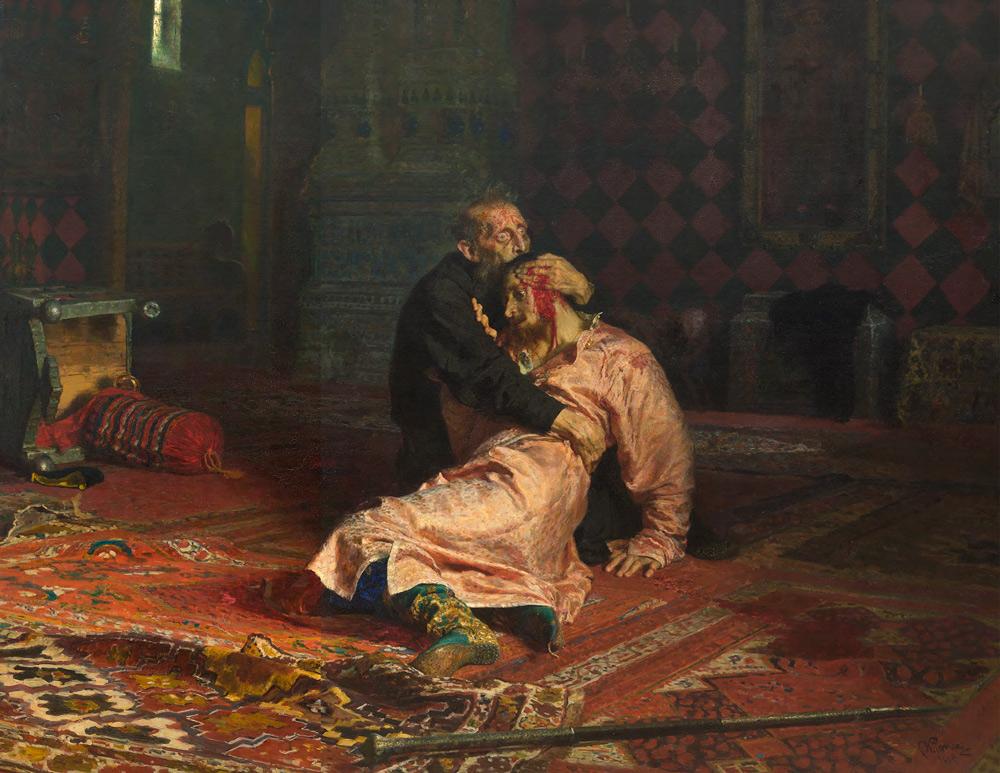 Ilya REPIN. Ivan the Terrible and His Son Ivan. 1885