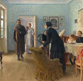 """Ilya REPIN. """"They Did Not Expect Him"""". 1884–1888"""