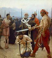 Ilya REPIN. St. Nicholas of Myra Saving Three Innocents from Death. 1888