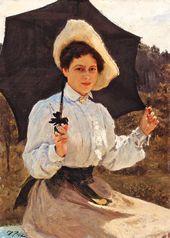 Ilya REPIN. In the Sun (Portrait of Nadezhda Repina, the Artist's Daughter). 1900
