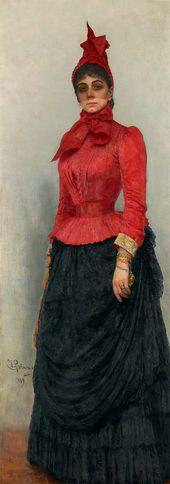 Ilya REPIN. Portrait of Baroness Varvara Iskul von Hildebrandt. 1889