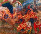 Ilya REPIN. The Hopak Dance (The Zaporozhye Cossacks Dancing). 1926-1930