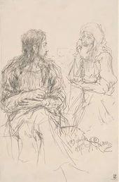 Ilya REPIN. Christ and Nicodemus. 1887