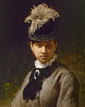 Ilya Repin. Portrait of the Artist's Wife, Vera Repina. 1876