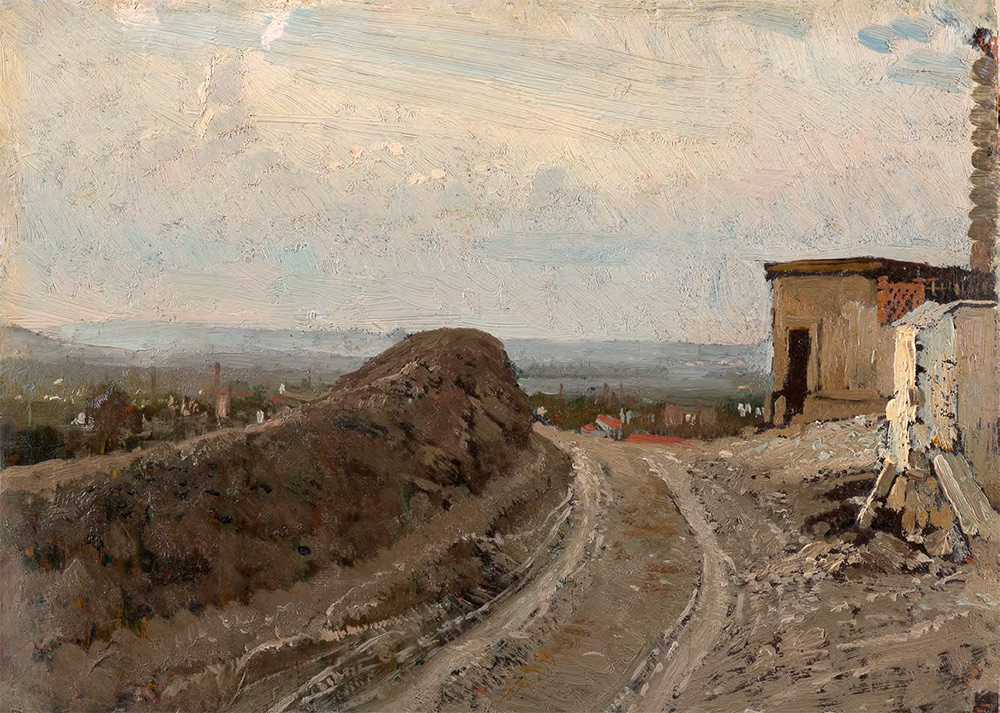 Ilya Repin. The Road to Montmartre, Paris. 1875–1876