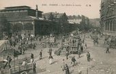 Paris. Les Halles Market in the Morning. Postcard. Late 19th century