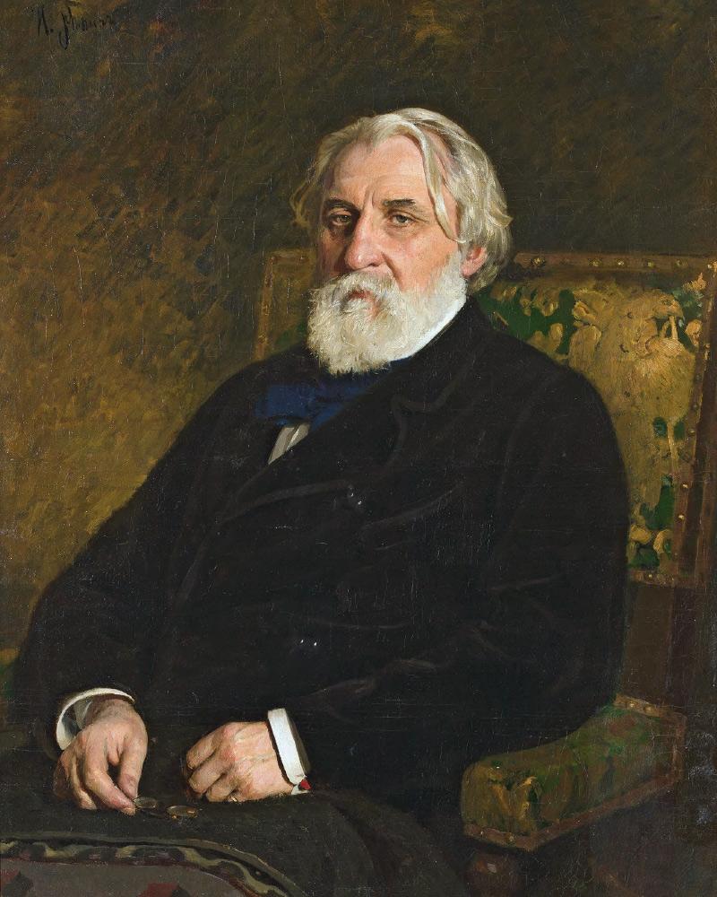 Ilya Repin. Portrait of Ivan Turgenev. 1874