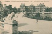 Paris. The Luxembourg Garden and Palace. Postcard. Late 19th century