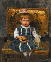 Ilya Repin. Portrait of Vera Repina as a Child. 1874