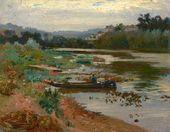 Ilya Repin. Landscape with a Boat. 1875