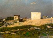 Ilya Repin. Paris. Montmartre. 1874