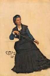 Ilya Repin. Woman Playing with an Umbrella. 1874