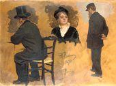 Ilya Repin. Two Studies of Arthur Meyer. Woman's Head. 1874