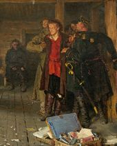 Ilya REPIN. Arrest of a Propagandist. 1880–1889, 1892. Detail