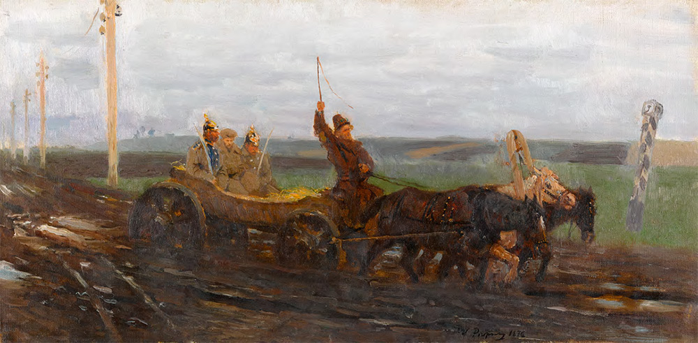 Ilya REPIN. Under Police Escort. A Muddy Road. 1876