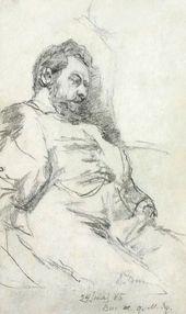 Ilya REPIN. Portrait of a Man. 1885